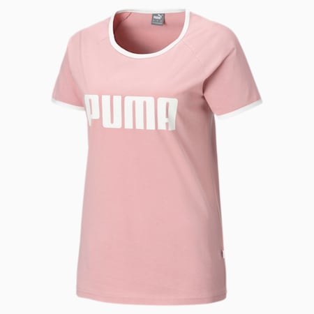 Contrast Women's Ringer Tee, Bridal Rose, small