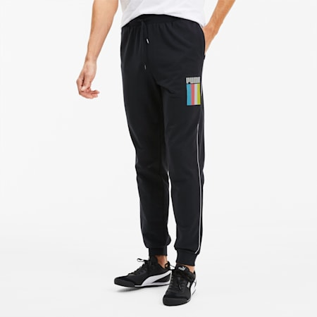 PUMA Men's Celebration Sweat Pants, Cotton Black, small-SEA