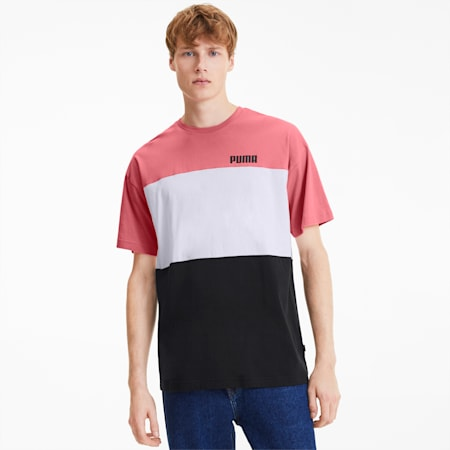 Celebration Men's Colorblock Tee, Cotton Black, small