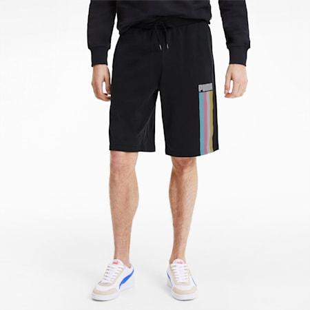 Celebration Men's Shorts, Cotton Black, small-SEA