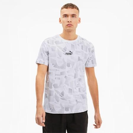 Summer Print Men's AOP Tee, Puma White-AOP, small