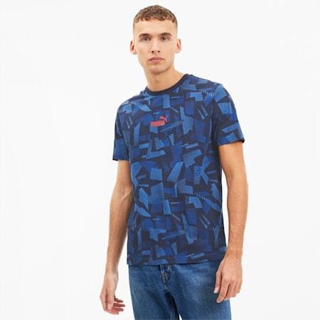 Camiseta AOP con estampado de verano para hombre, Peacoat-AOP, pequeño