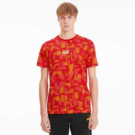Summer Print Men's AOP Tee, High Risk Red-AOP, small