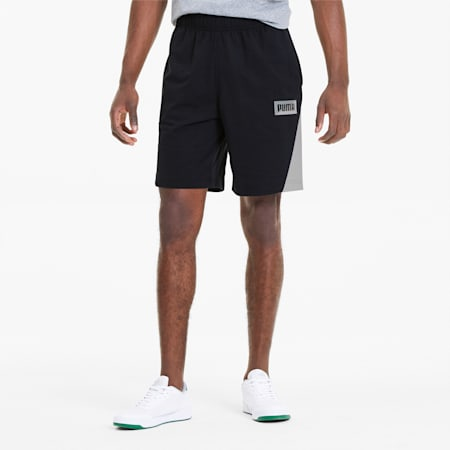Summer Print Men's Shorts, Cotton Black, small