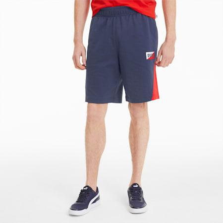 Summer Print Men's Shorts, Peacoat, small