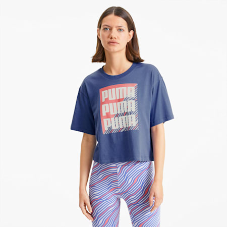 Summer Print Women's Graphic Tee, Marlin, small