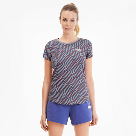 Summer All-Over Printed Women's Tee, Raindrops-AOP, small