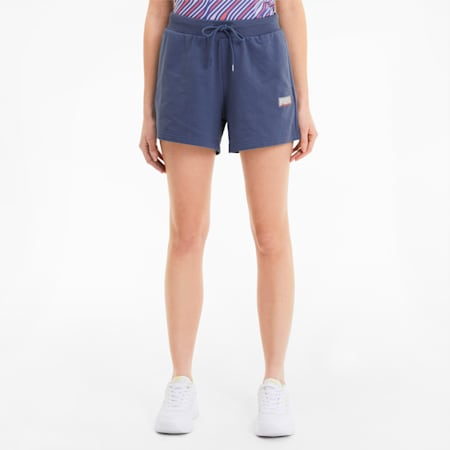 Summer All-Over Printed Women's Shorts, Marlin, small