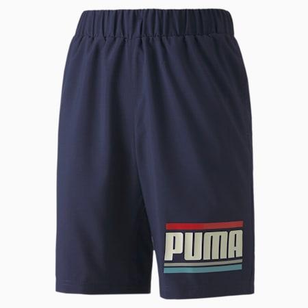 CELEBRATION Boys Woven Shorts, Peacoat, small-SEA