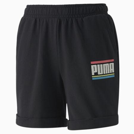 PUMA Celebration Girls' Shorts, Cotton Black, small-SEA