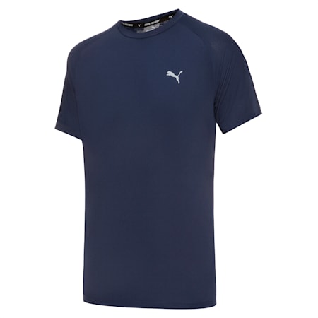 T-shirt in poliestere Active uomo, Peacoat, small