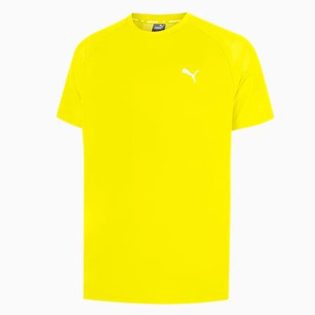 Active Polyester Men's Tee, Yellow Alert, small