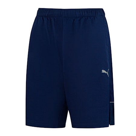 """Active polyester 8"""" short heren, Peacoat, small"""