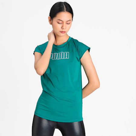 PUMA Active Women's T-shirt, Teal Green, small-IND
