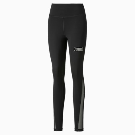 Active High Waisted Poly Women's Leggings, Puma Black, small-GBR