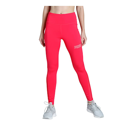 Active High Waisted Poly Women's Leggings, Nrgy Rose, small-IND