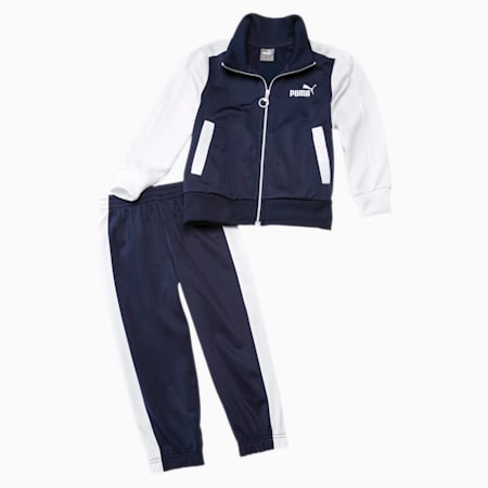 Babies' Track Suit, Peacoat-puma white, small-GBR