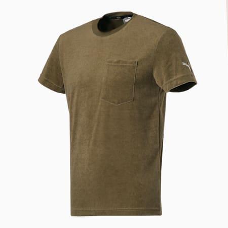 パイル 半袖 Tシャツ, Burnt Olive, small-JPN