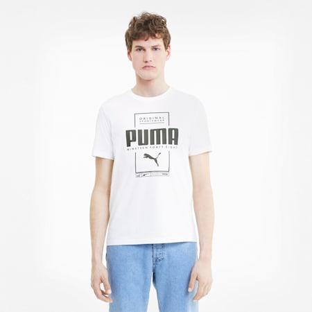 Box Men's Tee, Puma White, small-SEA