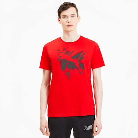 Cat Men's Tee, High Risk Red, small-SEA
