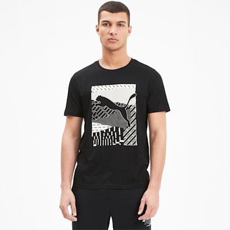 Cat Box Regular Fit Men's T-Shirt, Puma Black, small-IND