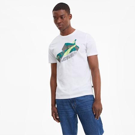 Sneaker Inspired Men's Tee, Puma White, small-SEA