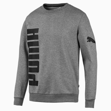 Big Logo Crew FL Sweatshirt, Medium Gray Heather, small-IND