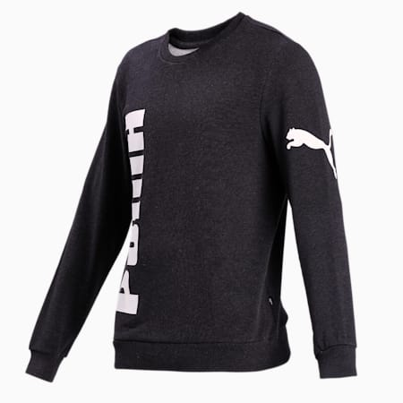 Big Logo Crew FL Sweatshirt, Dark Gray Heather, small-IND