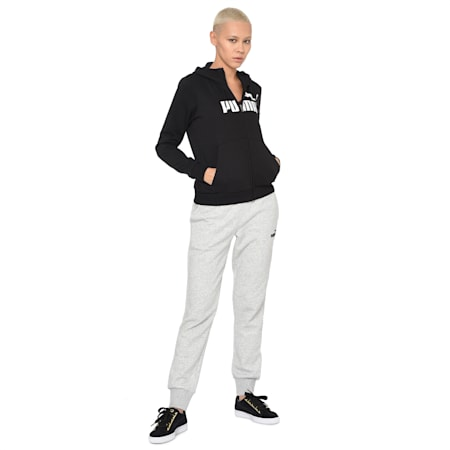 ESS Logo Men's Hooded Jacket, Cotton Black, small-IND