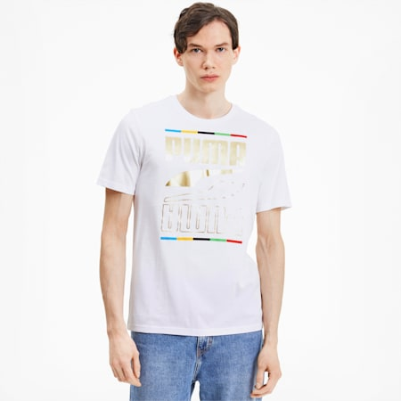 Rebel 5 Continents Men's T-Shirt, Puma White, small-IND