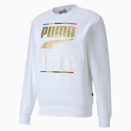The Rebel Crew 5 Continents Regular Fit Men's Sweat Shirt, Puma White, small-IND