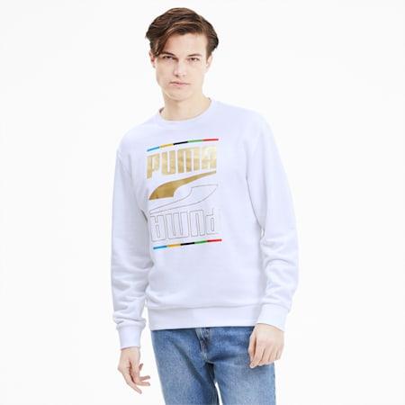 The Rebel Crew 5 Men's Continents Sweater, Puma White, small-GBR
