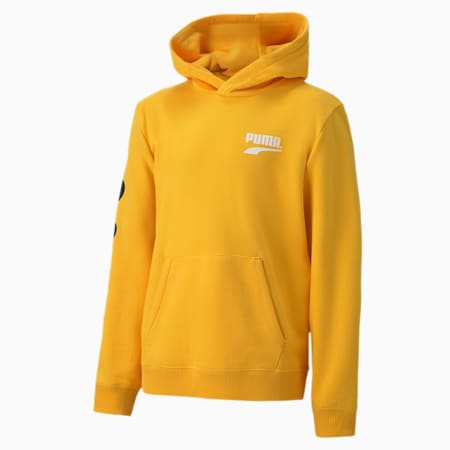 Club Kid's Hoodie, Spectra Yellow, small-IND