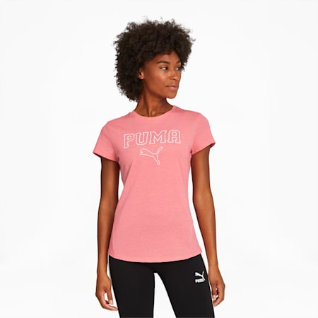 Athletic Outline Women's Tee, Salmon Rose Heather, small