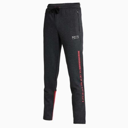 PUMA x Virat Kohli Colourblock Men's Sweatpants, Dark Gray Heather-Red Dahlia, small-IND