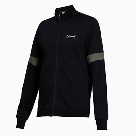 Virat Kohli Mens Track Full-Zip, Puma Black-Thyme, small-IND
