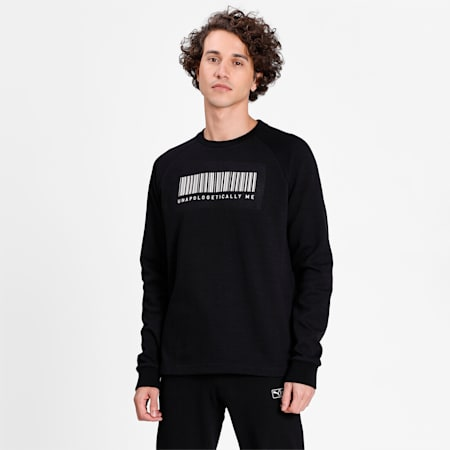 PUMA X Virat Kohli Crew Neck Men's Sweatshirt, Puma Black, small-IND