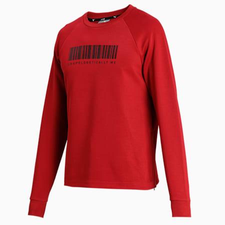 PUMA X Virat Kohli Crew Neck Men's Sweatshirt, Red Dahlia, small-IND