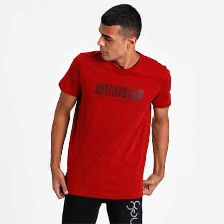 PUMA X Virat Kohli Men's Graphic T-Shirt, Red Dahlia, small-IND