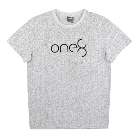 PUMA X Virat Kohli Men's All Over Printed  T-Shirt, Puma White, small-IND