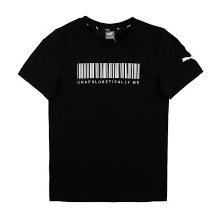 PUMA X Virat Kohli Boy's Grpahic T-Shirt, Puma Black, small-IND