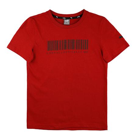 PUMA X Virat Kohli Boy's Grpahic T-Shirt, Red Dahlia, small-IND