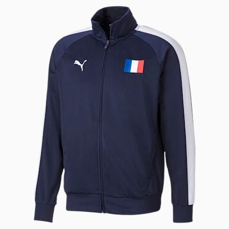 Unisex Track Jacket, Peacoat-Puma White-France, small