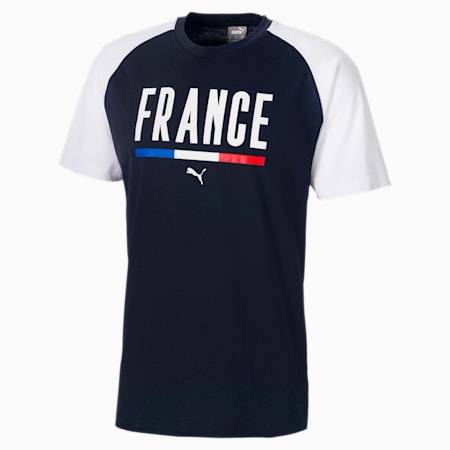 Camiseta Fútbol Unisex, Puma White-Peacoat, small