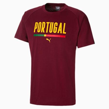 Voetbal uniseks T-shirt, Cordovan, small