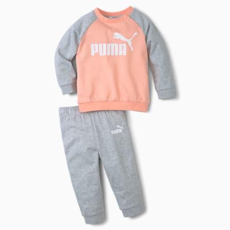 Completo da jogging con maniche raglan Minicats Essentials Babies, Apricot Blush, small