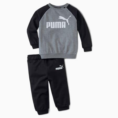 Conjunto de chándal con mangas raglan Minicats Essentials para bebés, Puma Black, small