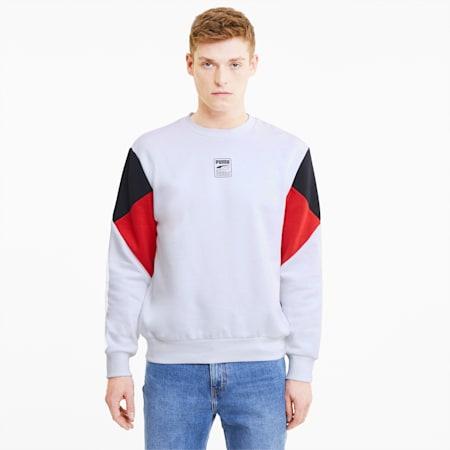 Rebel Small Logo Crew Neck Men's Sweater, Puma White, small-GBR