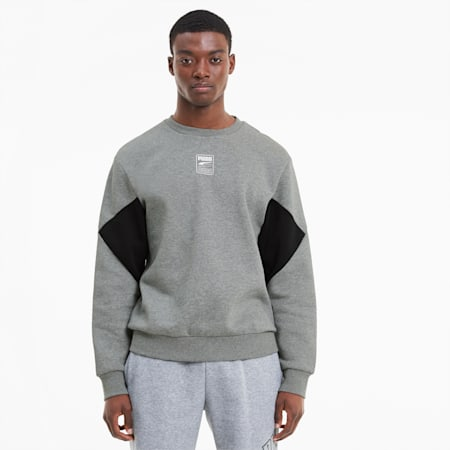 Sweat Rebel Small Logo pour homme, Medium Gray Heather, small