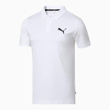 Camiseta tipo polo Essentials para hombre, Puma White, pequeño